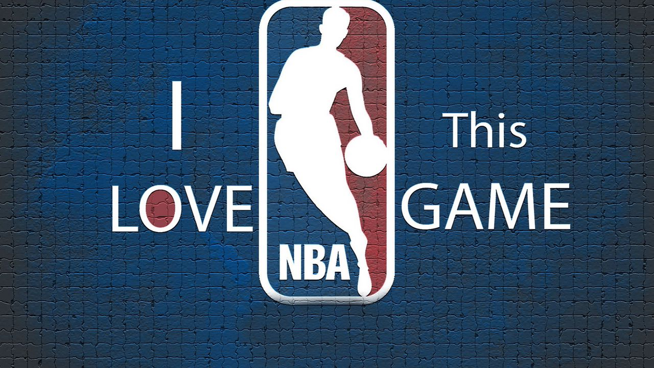 blue, nba, background, basketball, logo
