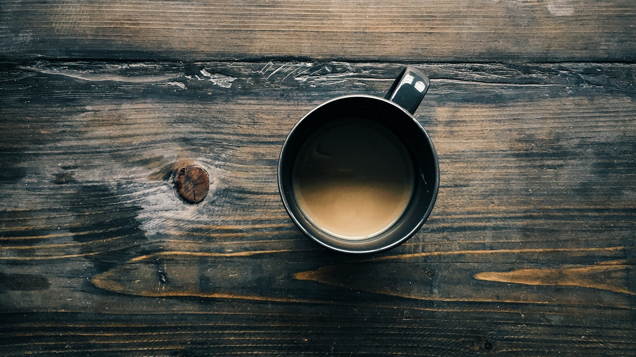 coffee, cup, wooden surface