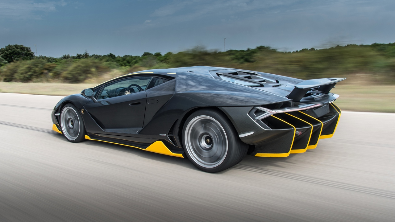 lamborghini, centenario, side view, speed
