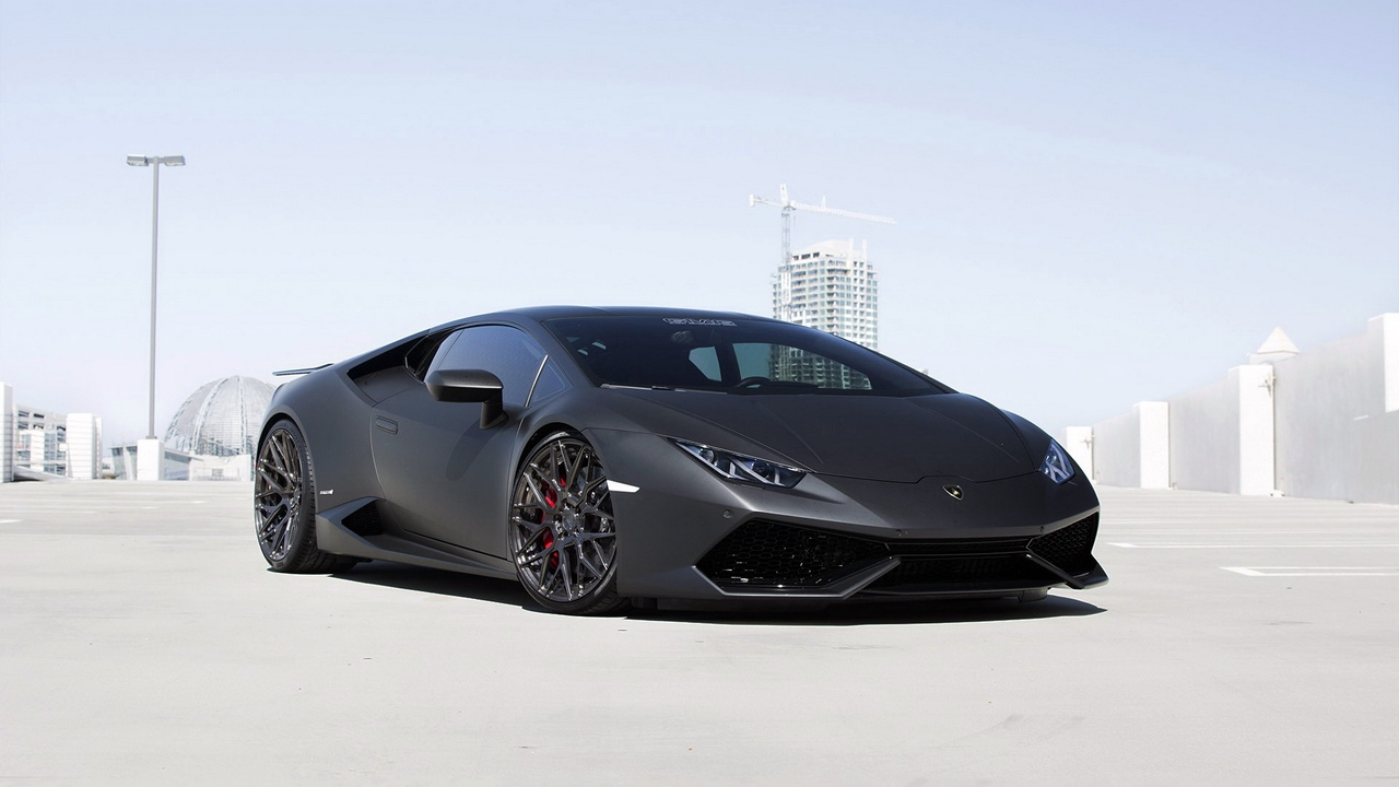 lamborghini, huracan, gmg, black, side view, tuning