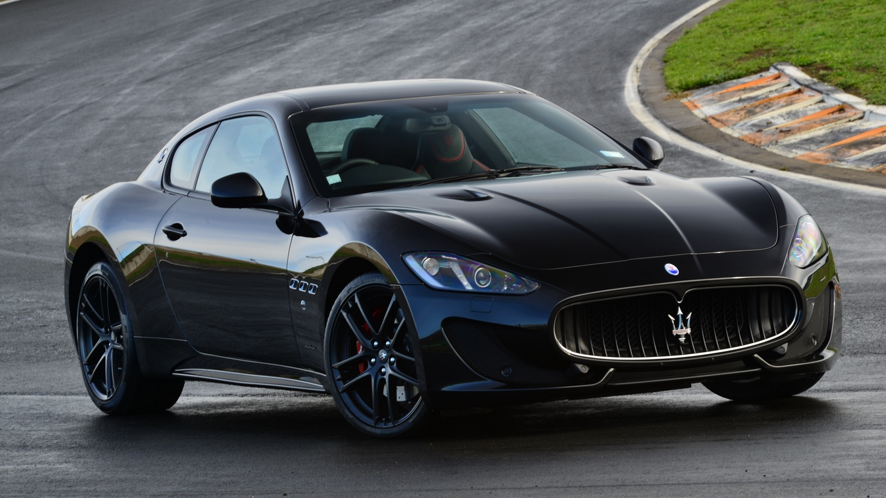maserati, granturismo, mc sportline, side view, black