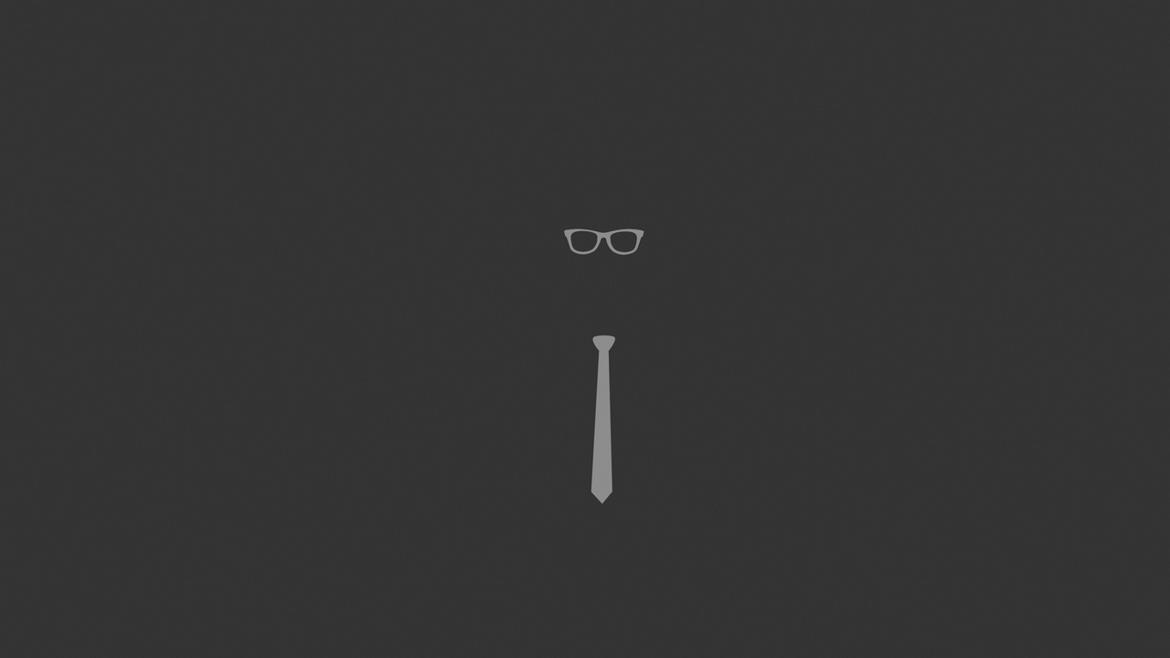 tie, glasses, graphic, minimalist